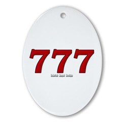 777 Oval Ornament