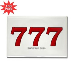 777 Rectangle Magnet (100 pack)