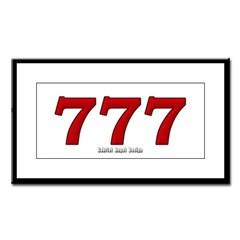 777 Small Framed Print