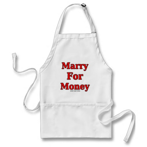 Marry for Money Adult Apron