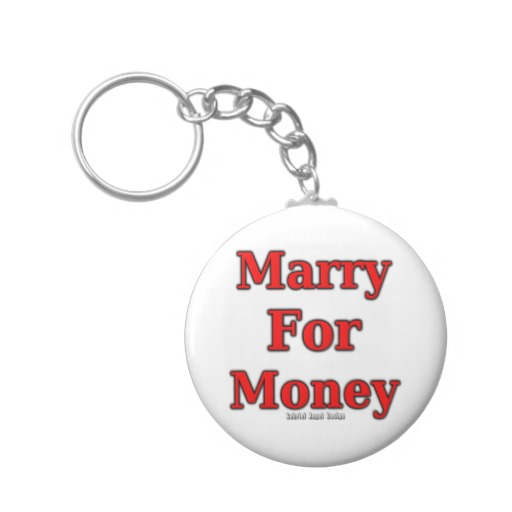 Marry for Money Basic Button Keychain