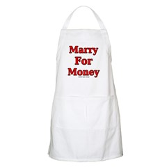 Marry for Money BBQ Apron