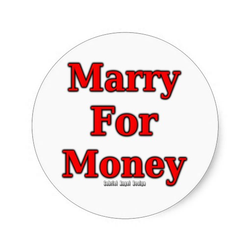 Marry for Money Classic Round Sticker