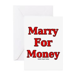 Marry for Money Greeting Cards (Pk of 10)