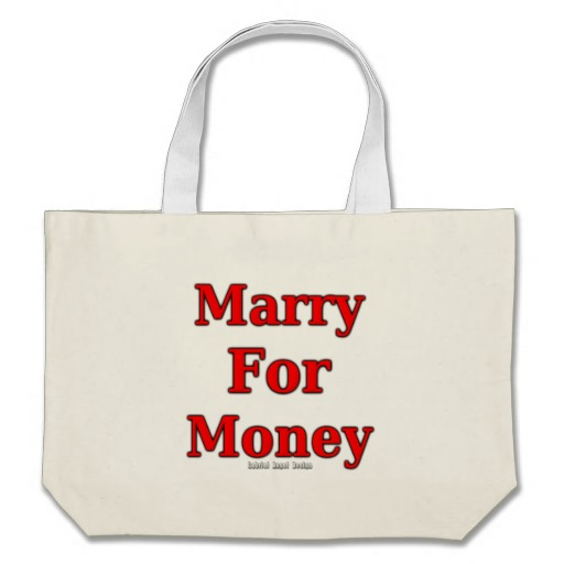 Marry for Money Jumbo Tote