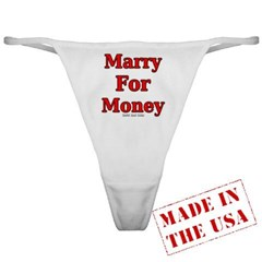 Marry for Money Ladies Thong Underwear