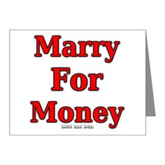 Marry for Money Note Cards (Pk of 20)