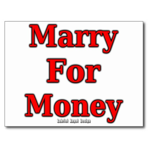 Marry for Money Postcard