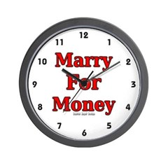 Marry for Money Wall Clock
