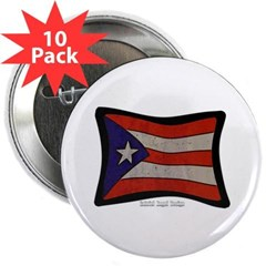 "Puerto Rico Flag Graffiti 2.25"" Button (10 pack)"