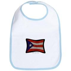 Puerto Rico Flag Graffiti Baby Bib