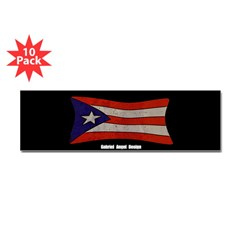 Puerto Rico Flag Graffiti Bumper Stickers 10 Pack