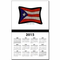 Puerto Rico Flag Graffiti Calendar Print