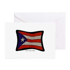 Puerto Rico Flag Graffiti Greeting Card