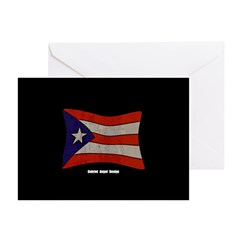 Puerto Rico Flag Graffiti Greeting Cards (Pk of 20