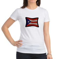 Puerto Rico Flag Graffiti Junior Jersey T-Shirt