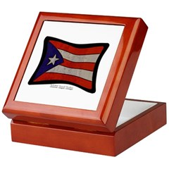 Puerto Rico Flag Graffiti Keepsake Box