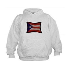Puerto Rico Flag Graffiti Kids Sweatshirt by Hanes
