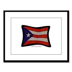 Puerto Rico Flag Graffiti Large Framed Print