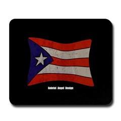 Puerto Rico Flag Graffiti Mousepad