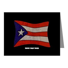 Puerto Rico Flag Graffiti Note Cards (Pk of 10)