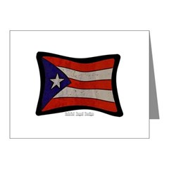 Puerto Rico Flag Graffiti Note Cards (Pk of 10)