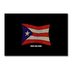 Puerto Rico Flag Graffiti Postcards (Package of 8)