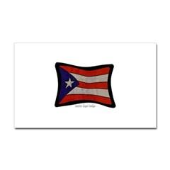 Puerto Rico Flag Graffiti Rectangle Decal