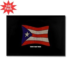 Puerto Rico Flag Graffiti Rectangle Magnets (100 pack)