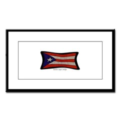 Puerto Rico Flag Graffiti Small Framed Print
