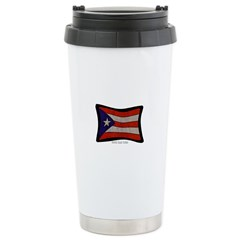 Puerto Rico Flag Graffiti Travel Mug