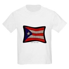 Puerto Rico Flag Graffiti Youth T-Shirt by Hanes