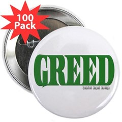 """Greed Logo 2.25"""" Button (100 pack)"""