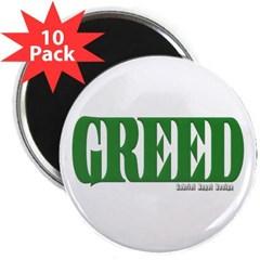 """Greed Logo 2.25"""" Magnet (10 pack)"""