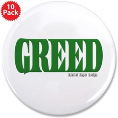 """Greed Logo 3.5"""" Button (10 pack)"""