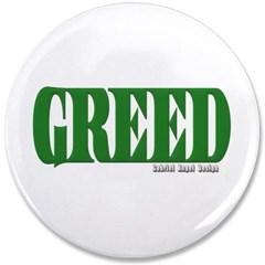"Greed Logo 3.5"" Button"