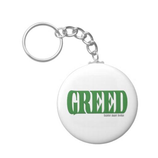 Greed Logo Basic Button Keychain