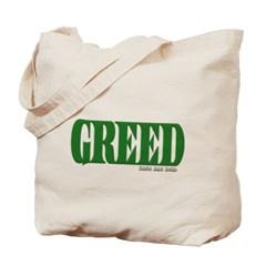 Greed Logo Canvas Tote Bag
