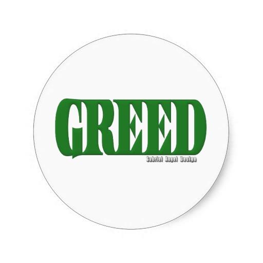 Greed Logo Classic Round Sticker