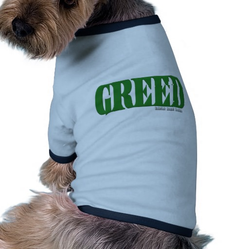Greed Logo Doggie Ringer T-Shirt