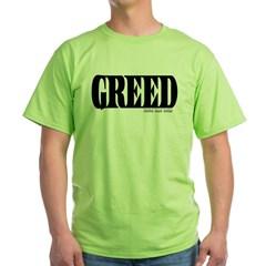 Greed Logo Green T-Shirt