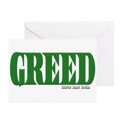 Greed Logo Greeting Cards (Pk of 20)