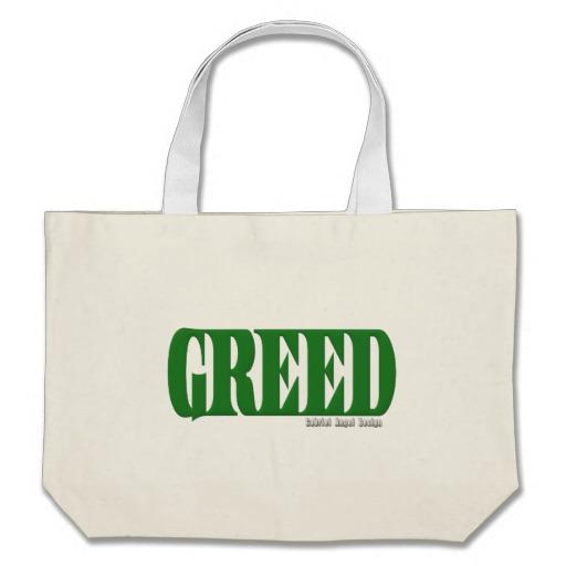 Greed Logo Jumbo Tote