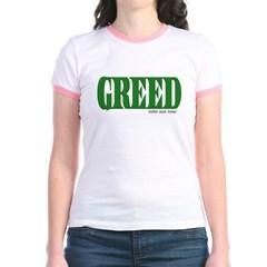 Greed Logo Junior Ringer T-Shirt