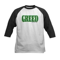Greed Logo Kids Baseball Jersey T-Shirt