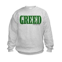 Greed Logo Kids Crewneck Sweatshirt by Hanes