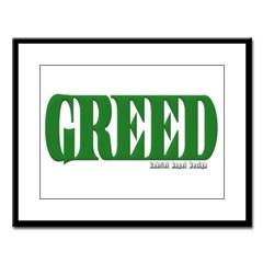 Greed Logo Large Framed Print