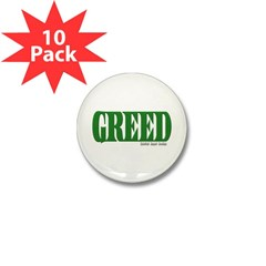 Greed Logo Mini Button (10 pack)