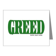 Greed Logo Note Cards (Pk of 10)