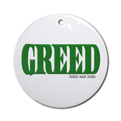 Greed Logo Ornament (Round)